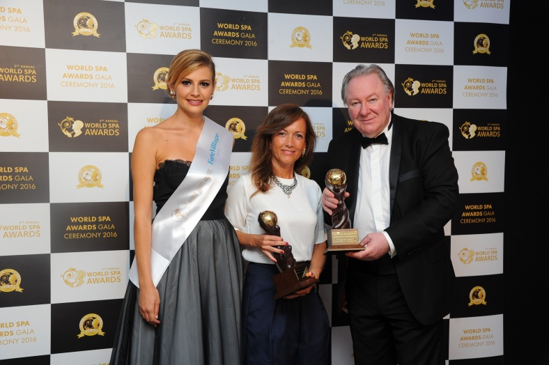 3 Ms Patrizia Di Patrizio, Sales Representation, Director of The Luxury Lab, The Sun Siyam Iru Fushi,  Mr Graham Cooke, President & Founder, World Spa Awards